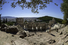 Teatro de Dionysus en Atenas Imagen de archivo libre de regalías