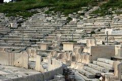 Teatro de Dionysus en la cuesta meridional del Acro Fotografía de archivo libre de regalías
