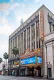 Teatro de filme histórico famoso do EL Capitan em Hollywood, Califórnia Imagens de Stock