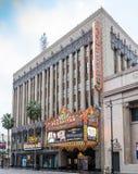 Teatro de filme histórico famoso do EL Capitan em Hollywood, Califórnia Foto de Stock