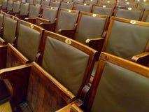 Teatro de filme velho vazio Fotos de Stock Royalty Free