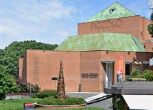 Teatro de flautim em Milão, Itália imagens de stock
