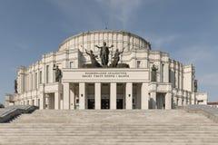 Teatro de Grand National de Opera e do bailado em Minsk foto de stock
