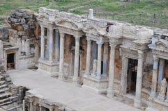 Teatro de Hierapolis, Pamukkale, Denizli Foto de archivo