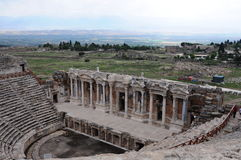 Teatro de Hierapolis, Pamukkale, Denizli Imagen de archivo