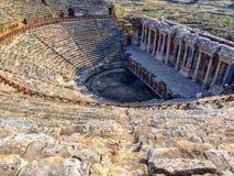 Teatro de Hierapolis Pamukkale, Turquía Foto de archivo