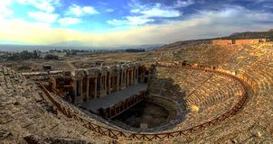 Teatro de Hierapolis Pamukkale, Turquia Fotos de Stock Royalty Free