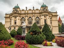Teatro de Juliusz Slowacki em Krakow, Poland fotos de stock royalty free