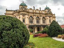 Teatro de Juliusz Slowacki en Kraków, Polonia fotos de archivo