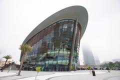 Teatro de la ópera de Dubai en un día nublado Foto de archivo