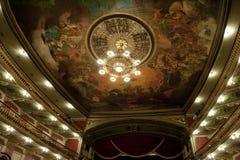 Teatro de la ópera de Manaus dentro Foto de archivo libre de regalías