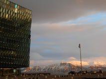 Teatro de la ópera de Reykjavik Imágenes de archivo libres de regalías