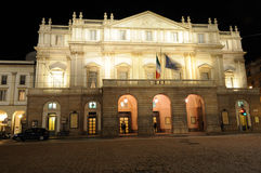 Teatro de la ópera de Scala en Milano Italia Fotografía de archivo libre de regalías
