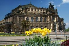 Teatro de la ópera de Semper Foto de archivo