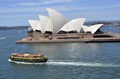 Teatro de la ópera de Sydney. Imagen de archivo