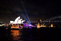 Teatro de la ópera 2015 de Sydney NYE Imagenes de archivo
