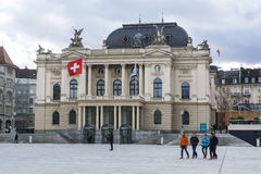 Teatro de la ópera de Zurich fotos de archivo libres de regalías