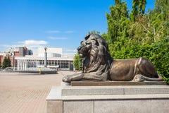Teatro de la ópera del estado de Krasnoyarsk Fotografía de archivo