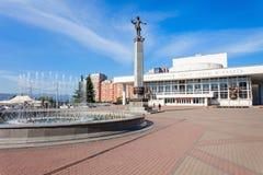 Teatro de la ópera del estado de Krasnoyarsk Foto de archivo
