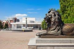 Teatro de la ópera del estado de Krasnoyarsk Foto de archivo libre de regalías