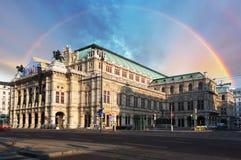 Teatro de la ópera del estado de Viena (Staatsoper), Austria imagen de archivo libre de regalías