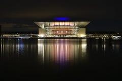 Teatro de la ópera en Copenhague, Dinamarca fotografía de archivo libre de regalías