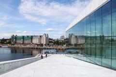 Teatro de la ópera en Oslo Noruega Imagenes de archivo
