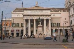 Teatro de la ópera Génova de Carlo Felice Foto de archivo