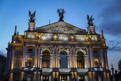 Teatro de la ópera de Lviv en Ucrania foto de archivo libre de regalías