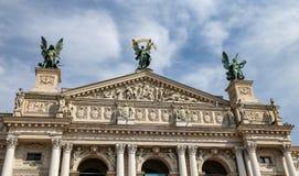 Teatro de la ópera de Lviv en Ucrania imagenes de archivo