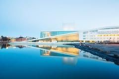 Teatro de la ópera Noruega de Oslo foto de archivo