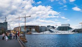 Teatro de la ópera de Oslo en Oslo, Noruega fotografía de archivo