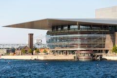 Teatro de la ópera público de Copenhague Foto de archivo libre de regalías