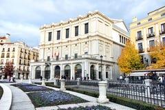Teatro de la ópera real de Teatro, Madrid, España fotos de archivo libres de regalías