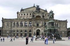 Teatro de la ópera Semperoper en Dresden Imagen de archivo libre de regalías
