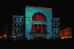 Teatro de la ópera de Timisoara Imagen de archivo