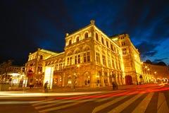 Teatro de la ópera Viena Imagen de archivo libre de regalías