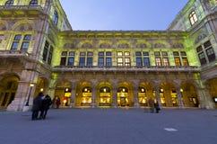 Teatro de la ópera, Viena, Austria Fotos de archivo