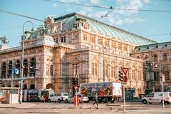 Teatro de la ópera Viena del estado imagenes de archivo