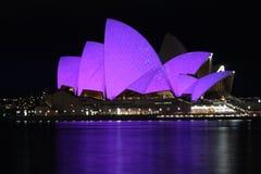 Teatro de la ópera vivo de Sydney Fotos de archivo libres de regalías