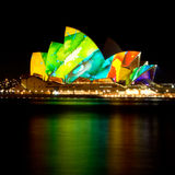 Teatro de la ópera vivo de Sydney Imagen de archivo