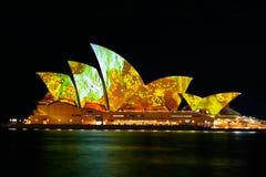 Teatro de la ópera vivo de Sydney Foto de archivo