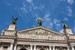 Teatro de la ópera y de ballet de Lviv Foto de archivo
