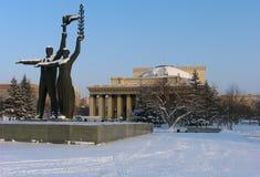 Teatro de la ópera y de ballet de Novosibirsk Fotos de archivo