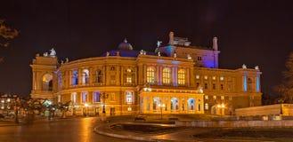 Teatro de la ópera y de ballet de Odessa en la noche Imagen de archivo