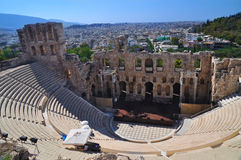 Teatro de la acrópolis fotos de archivo libres de regalías