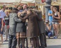 Teatro de la calle fotos de archivo libres de regalías