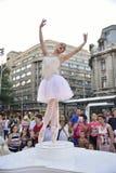 Teatro de la calle en B-FIT en la calle Bucarest 2015 Foto de archivo