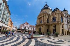 Teatro de la ciudad Pecs, Hungría, imagen de archivo libre de regalías