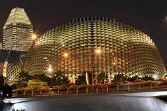 Teatro de la explanada de Singapur Imágenes de archivo libres de regalías